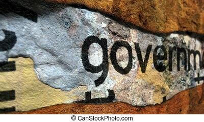 правительство, текст, на, гранж, задний план