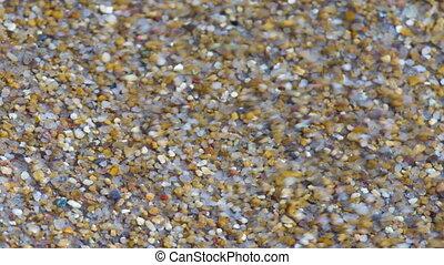 прибой, широкий, выстрел, sand., динамический, ассортимент, море, сырье
