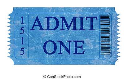 признавать, один, билет