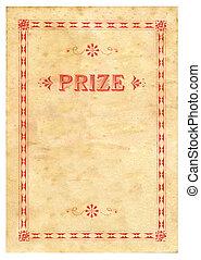 приз, сертификат, марочный, текстура, бумага, задний план