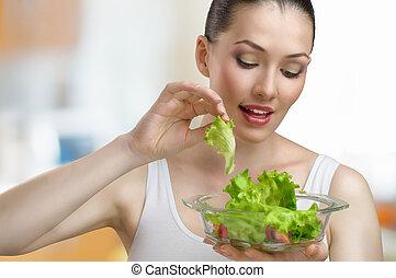 принимать пищу, здоровый, питание