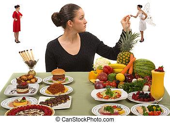 принимать пищу, здоровый