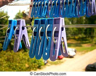 провод, clothespins