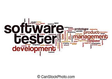 программного обеспечения, слово, облако, тестер