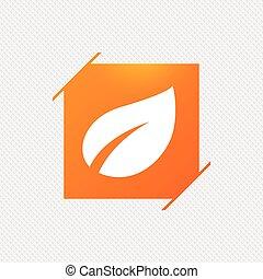 продукт, лист, symbol., знак, свежий, icon.