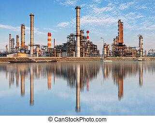 промышленность, завод, -, масло, очистительный завод