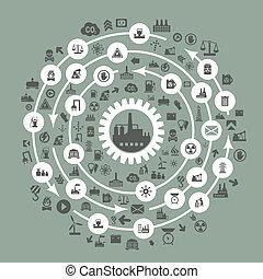 промышленность, круг
