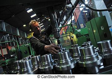промышленность, workers, люди, в, завод