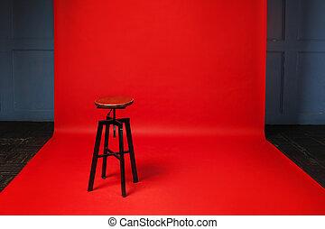пространство, деревянный, один, нет, стул, свободно,...