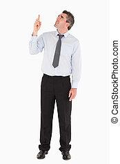 пространство, человек, pointing, копия