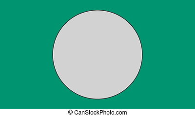 против, зеленый, задний план, круг