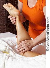 профессиональный, массаж, терапевтический