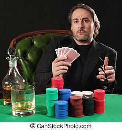 профессиональный, покер, игрок