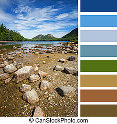 пруд, цвет, иордания, палитра