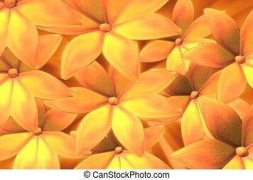 прядение, цветы