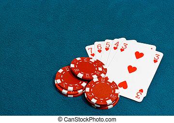 прямо, промывать, покер