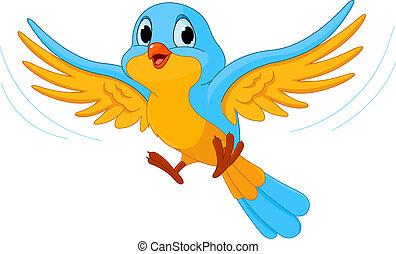 птица, летающий