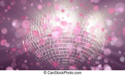 пузырь, сверкающих, анимация, дискотека, мяч