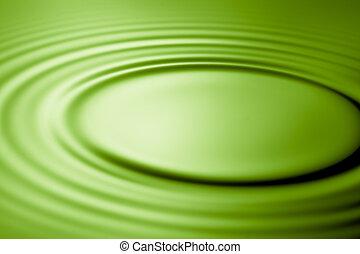пульсация, зеленый, воды