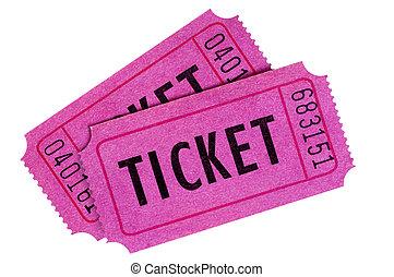 пурпурный, розовый, или, tickets