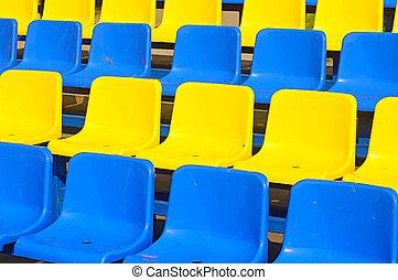 пустой, стадион, пластик, seats