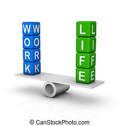 работа, and, жизнь, баланс