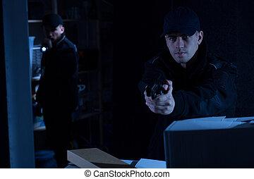 работа, policemen, два