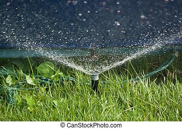 разбрызгиватель, воды