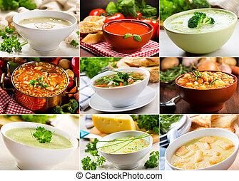 различный, soups