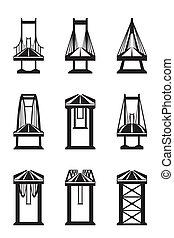 различный, types, of, мосты