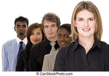 разнообразный, бизнес, группа