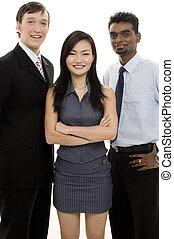 разнообразный, бизнес, команда, 4