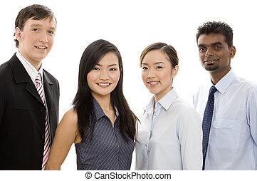 разнообразный, 4, бизнес, команда