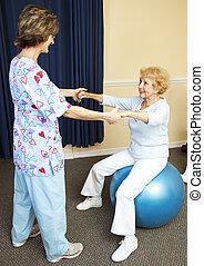 разрабатывать, терапия, физическая