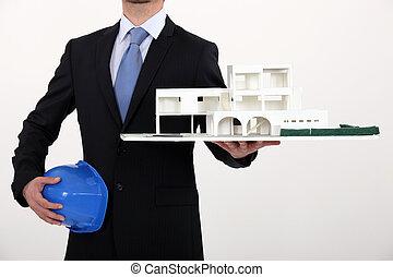 разработка, архитектор, модель, коммерческая
