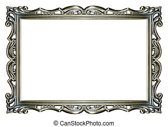 рамка, картина, серебряный