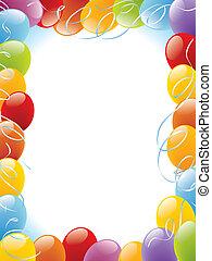 рамка, balloons