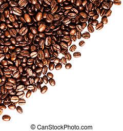 рамка, of, roasted, кофе, фасоль, isolated, на, белый, май, использование, в виде, backg