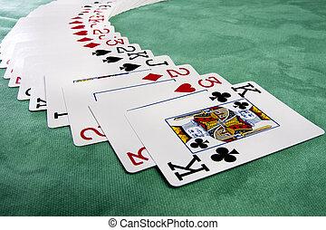распространение, of, cards