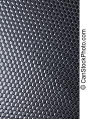 расческа, of, 3d, металл, сеть, задний план