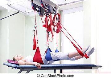 реабилитация, exercises, к, улучшать, , leg.