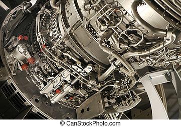 реактивный самолет, двигатель
