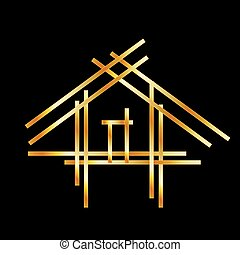реальный, дом, имущество, логотип