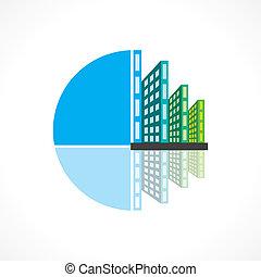 реальный, здание, вектор, имущество, значок