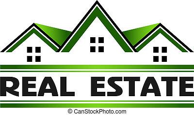 реальный, зеленый, имущество