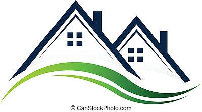 реальный, houses, имущество