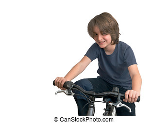 ребенок, на, , велосипед