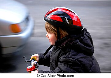 ребенок, rides, байк