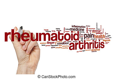 ревматоидный, артрит, слово, облако