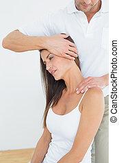 регулировка, мужской, костоправ, шея